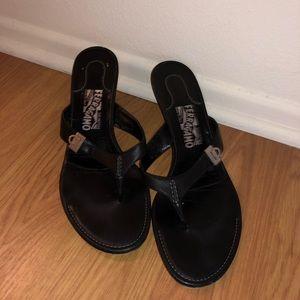 Salvatore Ferragamo kitten heel sandals
